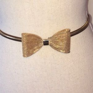 Accessories - Vintage Gold Tone Belt with Bow